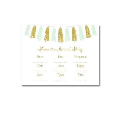 Baby-Shower-Printable-Mint-Gold-Tassel-Name-Animal-Baby