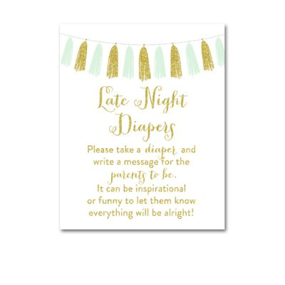 Baby-Shower-Printable-Mint-Gold-Tassel-Late-Night-Diapers
