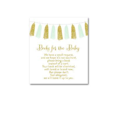 Baby-Shower-Printable-Mint-Gold-Tassel-Books-For-Baby