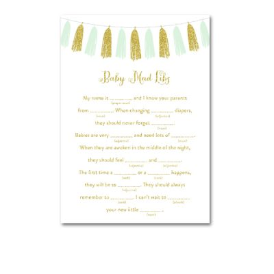 Baby-Shower-Printable-Mint-Gold-Tassel-Baby-Mad-Libs