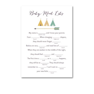 Baby-Shower-Arrow-Tribal-Baby-Mad-Libs