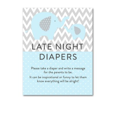 Baby-Shower-Printable-Blue-Gray-Elephant-Late-Night-Diapers