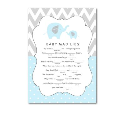 Blue elephant chevron baby shower archives instant download baby shower light blue gray chevron elephant baby boy activity mad libs instant download printable pronofoot35fo Image collections