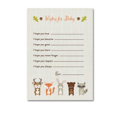 Woodland-Animals-Baby-Shower-Wishes-For-Baby
