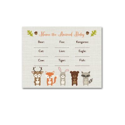 Woodland-Animals-Baby-Shower-Name-Animal-Baby