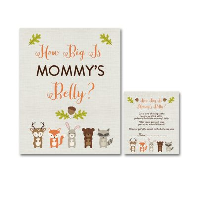 Woodland-Animals-Baby-Shower-How-Big-Mommys-Belly