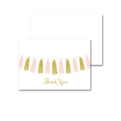 Baby-Shower-Pink-Gold-Tassle-Thank-You-Card