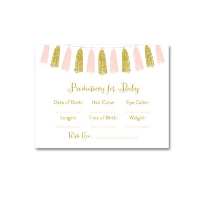 Baby-Shower-Pink-Gold-Tassle-Predictions-For-Baby