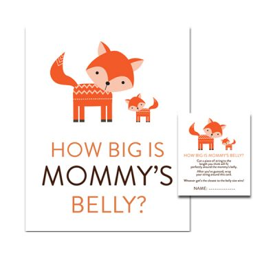 Baby-Shower-Cute-Woodland-Fox-How-Big-Mommys-Belly