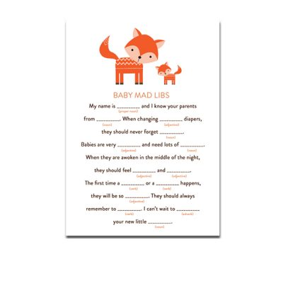 Baby-Shower-Cute-Woodland-Fox-Baby-Mad-Libs
