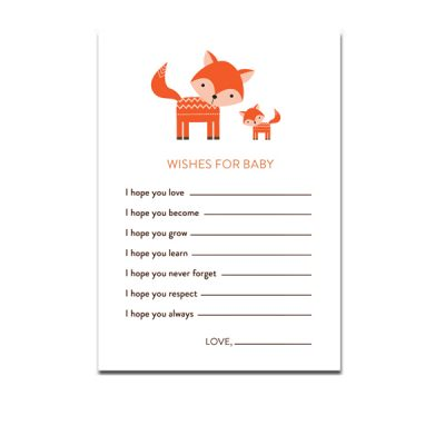 Baby-Shower-Cute-Woodland-Fox-Wishes-For-Baby