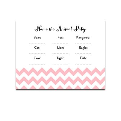 Baby-Shower-Pink-Chevron-Name-The-Animal-Baby