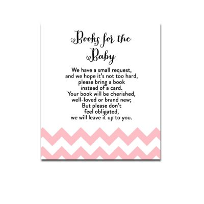 Baby-Shower-Pink-Chevron-Books-For-Baby