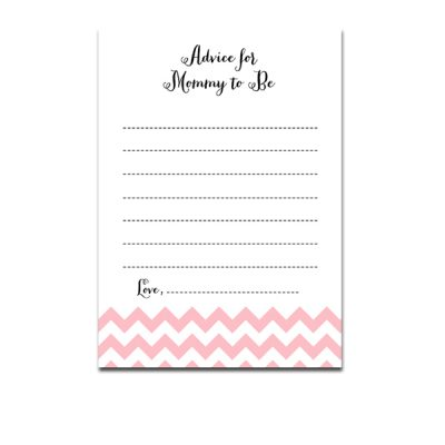 Baby-Shower-Pink-Chevron-Advice-For-Mommy