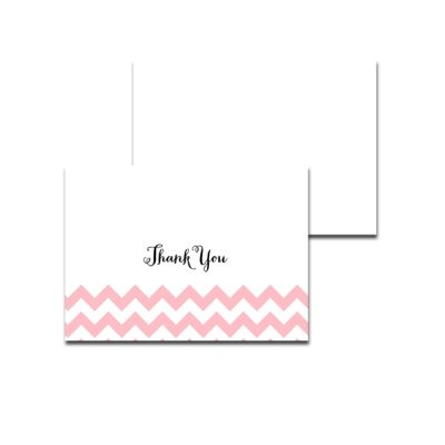 Baby-Shower-Pink-Chevron-Thank-You-Card