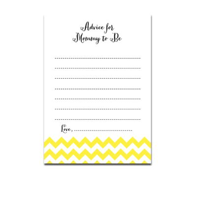 Baby-Shower-Yellow-Chevron-Advice-For-Mommy