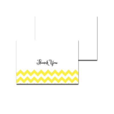 Baby-Shower-Yellow-Chevron-Thank-You-Card