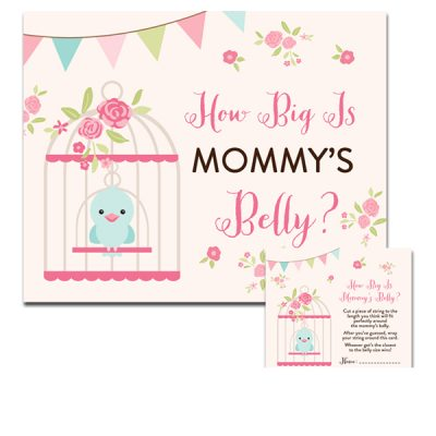 Baby-Shower-Bird-Cage-How-Big-Is-Mommys-Belly