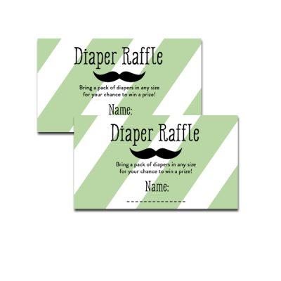 Green-Mustache-Diaper-Raffle