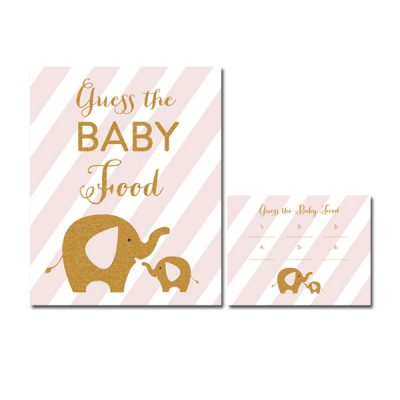 Baby-Shower-Pink-Gold-Elephant-Guess-The-Baby-Food