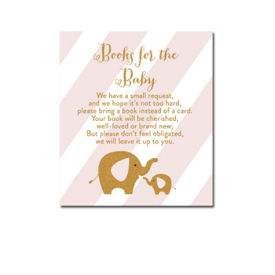 Baby-Shower-Pink-Gold-Elephant--Books-For-Baby