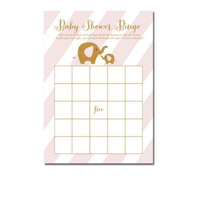 Baby-Shower-Pink-Gold-Elephant-Bingo