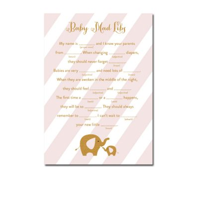 Baby-Shower-Pink-Gold-Elephant-Baby-Mad-Libs