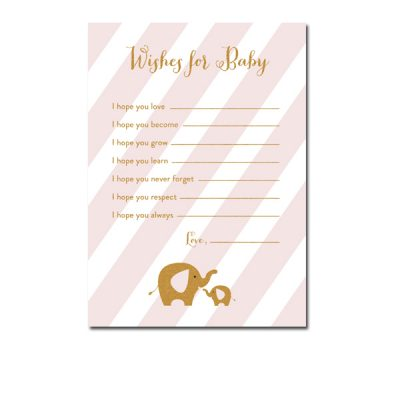 Baby-Shower-Pink-Gold-Elephant-Wishes-For-Baby