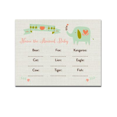 Aqua-Elephant-Baby-Shower-Game-Name-The-Animal-Baby
