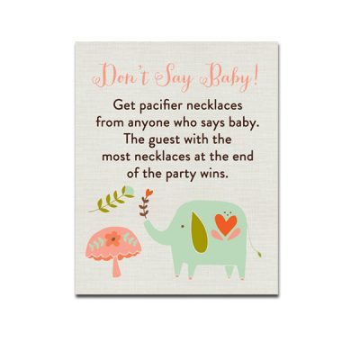 Aqua-Elephant-Baby-Shower-Dont-Say-Baby