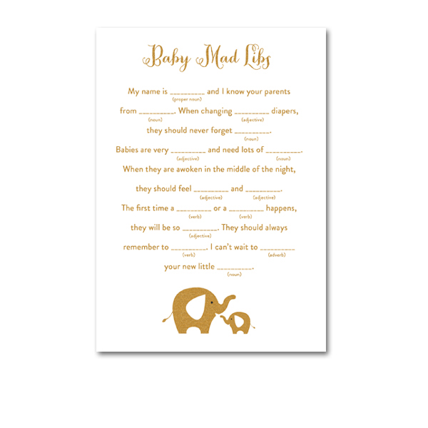 Baby Shower Printable
