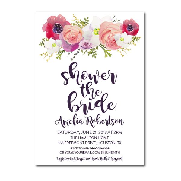 Editable pdf bridal shower invitation diy shower the Who gives the bridal shower for the bride