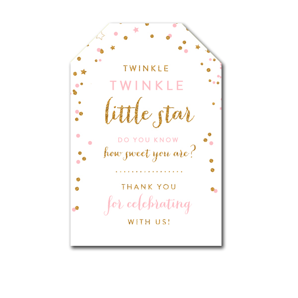 Thank You Tags Twinkle Twinkle Little Star Favor Tags Baby