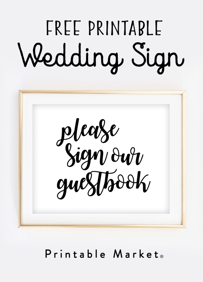 Gargantuan image regarding wedding signs printable