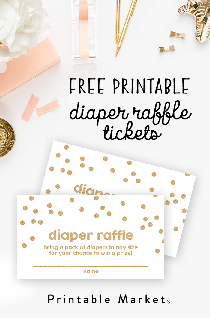Witty image intended for diaper raffle tickets free printable