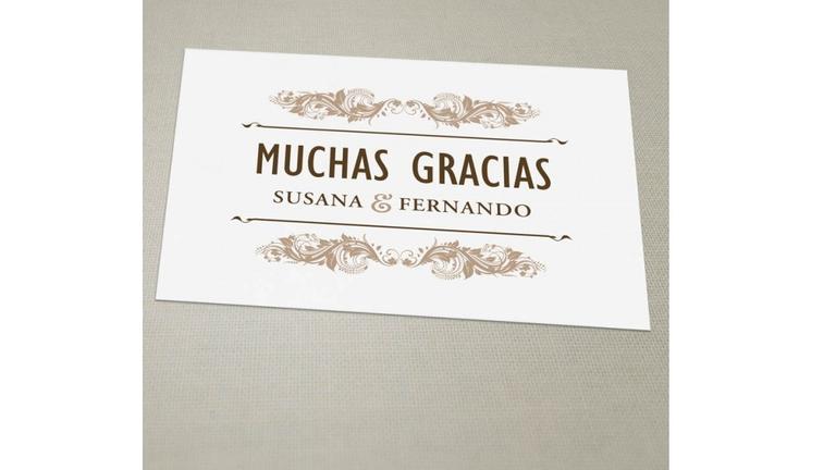 tarjetas de agradecimiento calidad premium