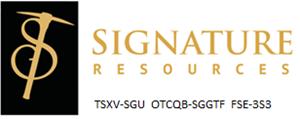 Signature Resources Ltd. (OTCQB:SGGTF)