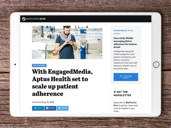 With EngagedMedia, Aptus Health Set to Scale Up Patient Adherence