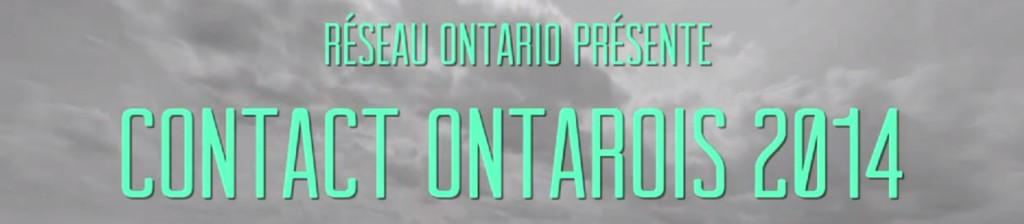 Contact Ontarois 2014 - Primeur