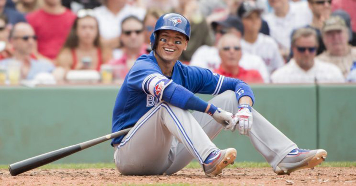 Ryan Goins grounded out on a pitch that nearly hit him in the head