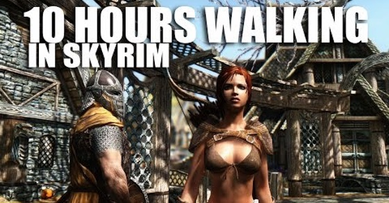 What it's Like Walking in Skyrim as a Woman in Skimpy Armor