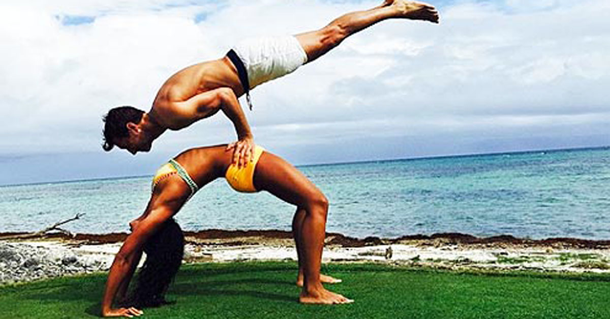 The Most Insane Couples Yoga Poses You've Ever Seen