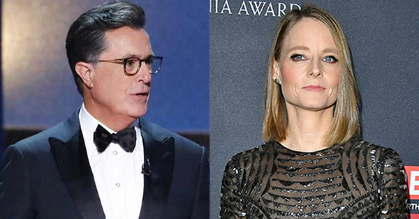 Jodie Foster and Stephen Colbert Parody Silence of the Lambs
