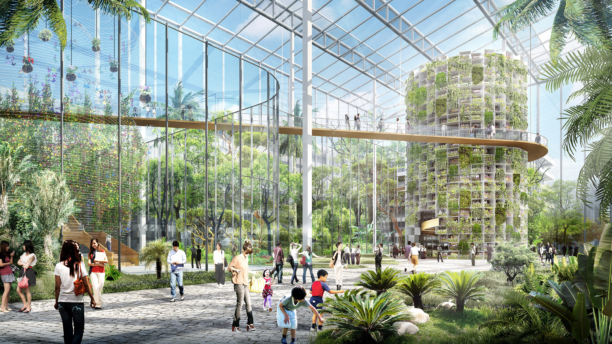Sasaki designs hydroponic vertical farm for Shanghai