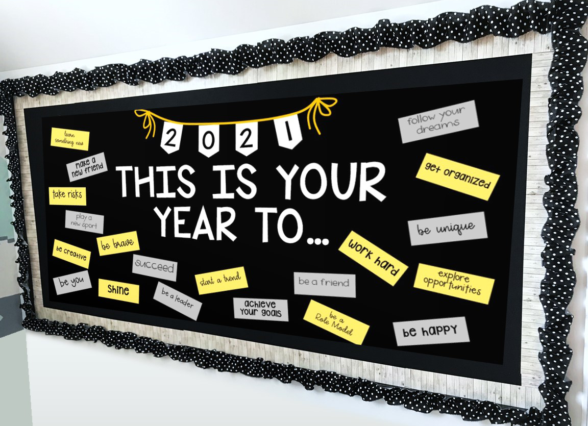 7 New Year S Bulletin Board Ideas For Teachers Houghton Mifflin Harcourt