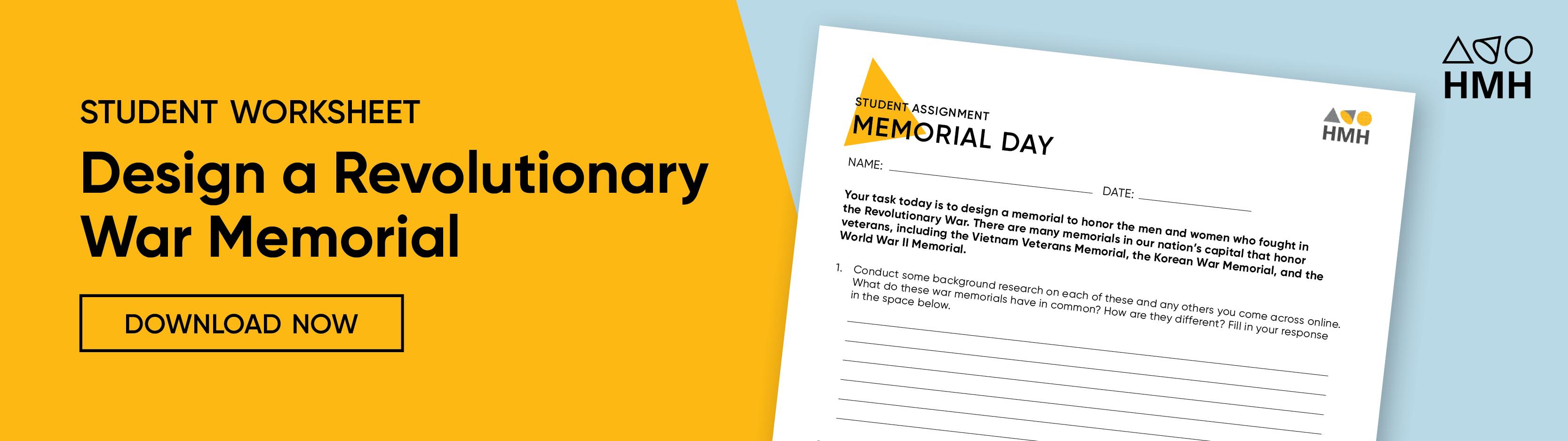 Memorial Day Classroom Activities Houghton Mifflin Harcourt