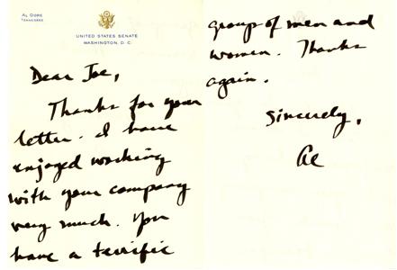 Al Gore letter