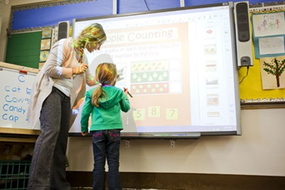 Teaching on a smart board
