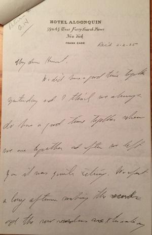 Gertrude Stein letter