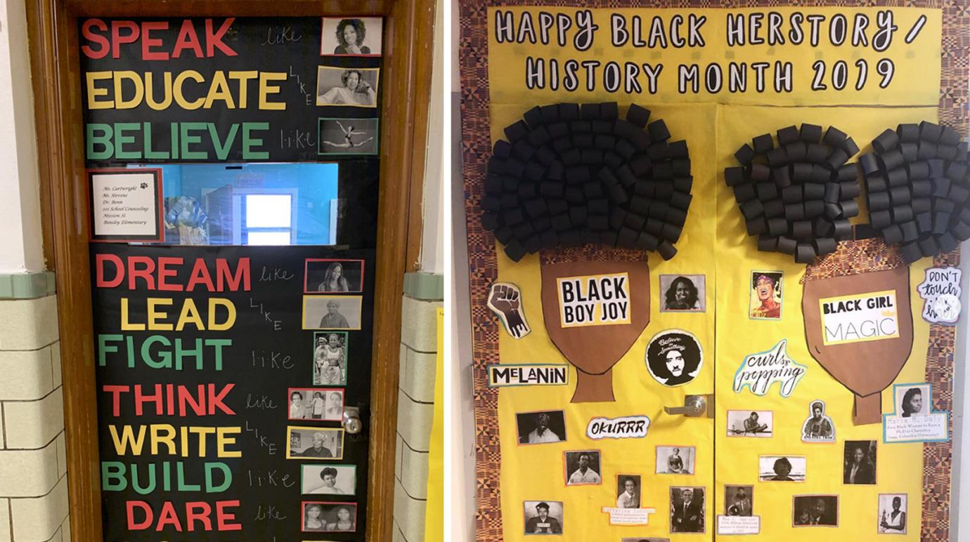 Black History Month Classroom Door Decoration Ideas Houghton Mifflin Harcourt